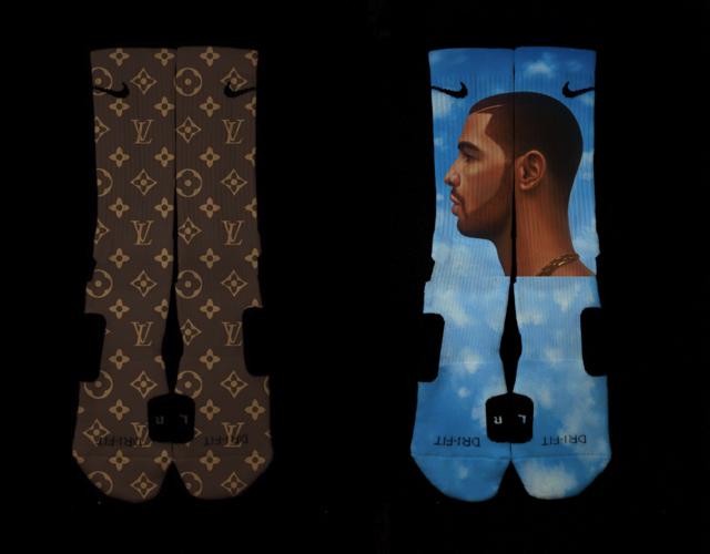 Custom nike elite socks top spin switch palace